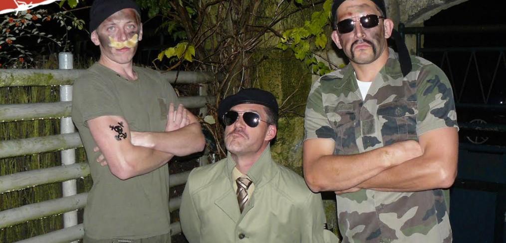 ème classe Doug Simpson, l'amiral Ripley Templeton et le mercenaire Hannibal Creggan